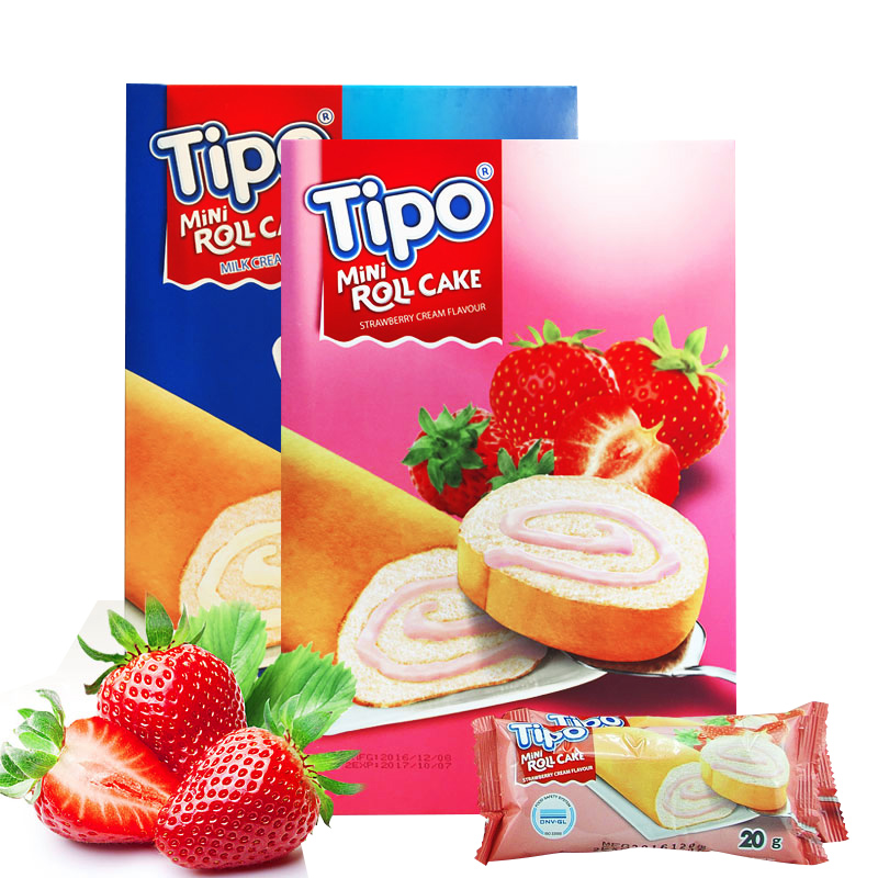 tipo迷你蛋糕卷(草莓味)