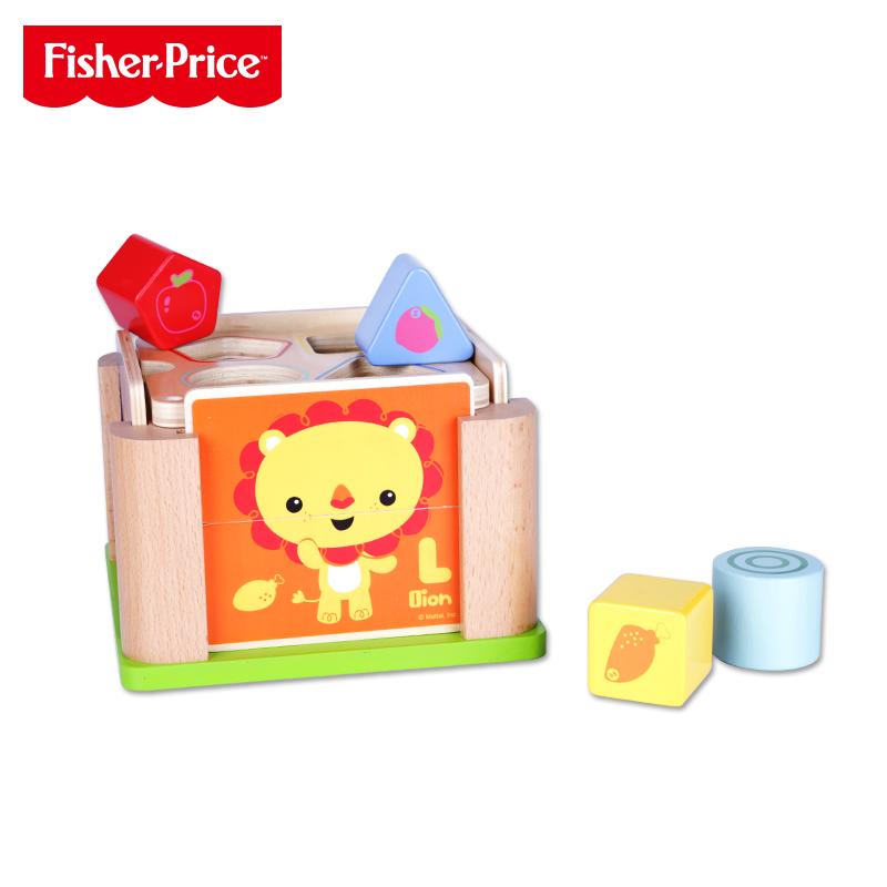 费雪-动物形状积木盒